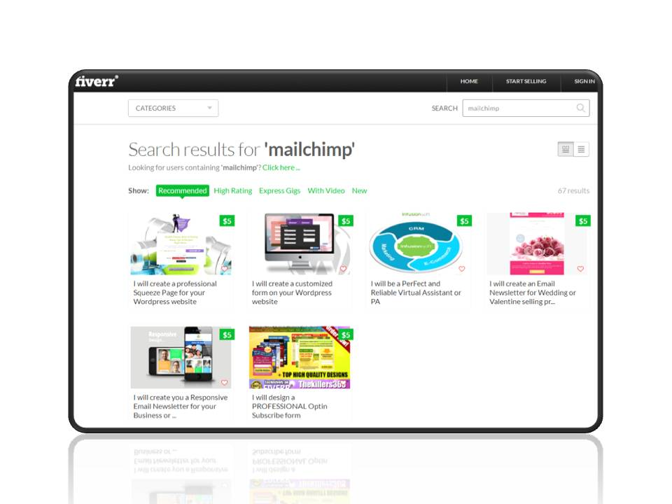 MailChimp gigs on Fiverr | ForAuthors.info