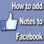 How to add Notes to a Facebook profile to promote your books
