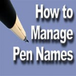 How to manage pen names