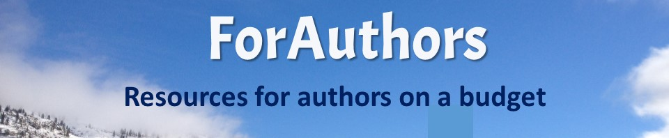 Resources for authors on a budget site header ForAuthors.info