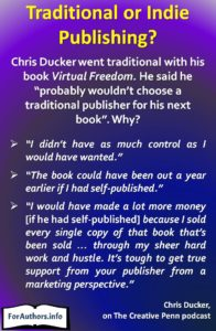Quote from Chris Ducker's interview on The Creative Penn podcast